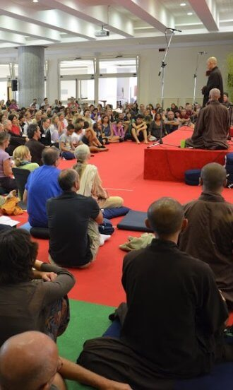 thich nhat hanh a roma nel 2012