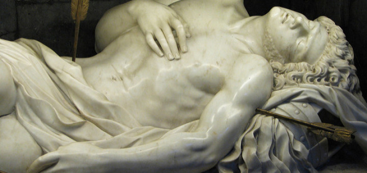 Fr Lawrence Lew, O.P., Detail of St Sebastian