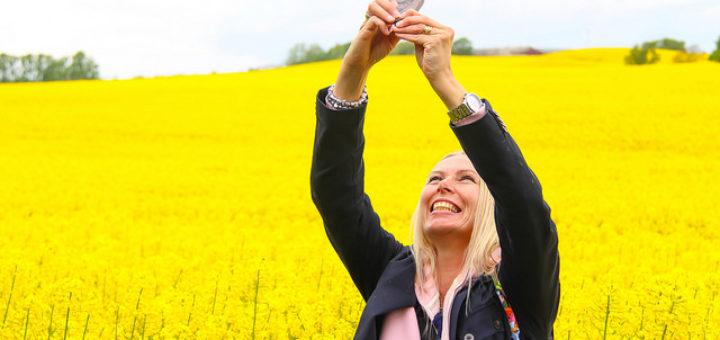 Susanne Nilsson, Taking a selfie