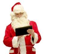 Matti Mattila, Santa Claus tapping a tablet
